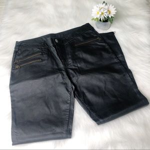 Free People Faux Leather 12 Skinny Pants Moto